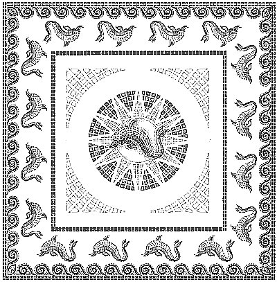 Italophile Coloring Pages Dolphin Mosaic 2