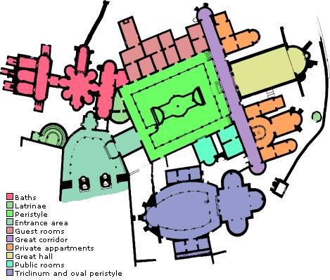 План Римской виллы возле Пьяццы Армерины, Сицилия, Пьяцца Армерина